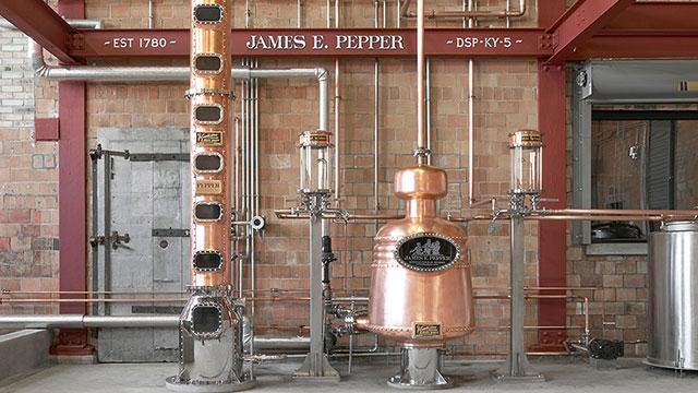James Pepper distillery interoir