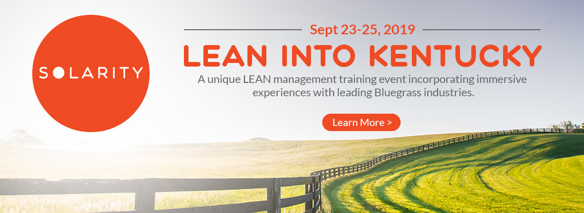 Lean management training event, Sept. 23-25, 2019